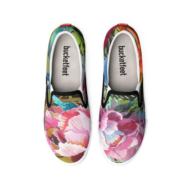 Peonies Power Kicks Men's Shoes by tigerbeearts's Artist Shop