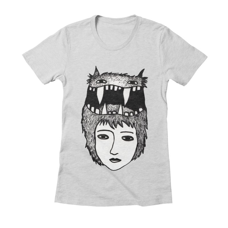 monsterlady Women's Fitted T-Shirt by tigrowna