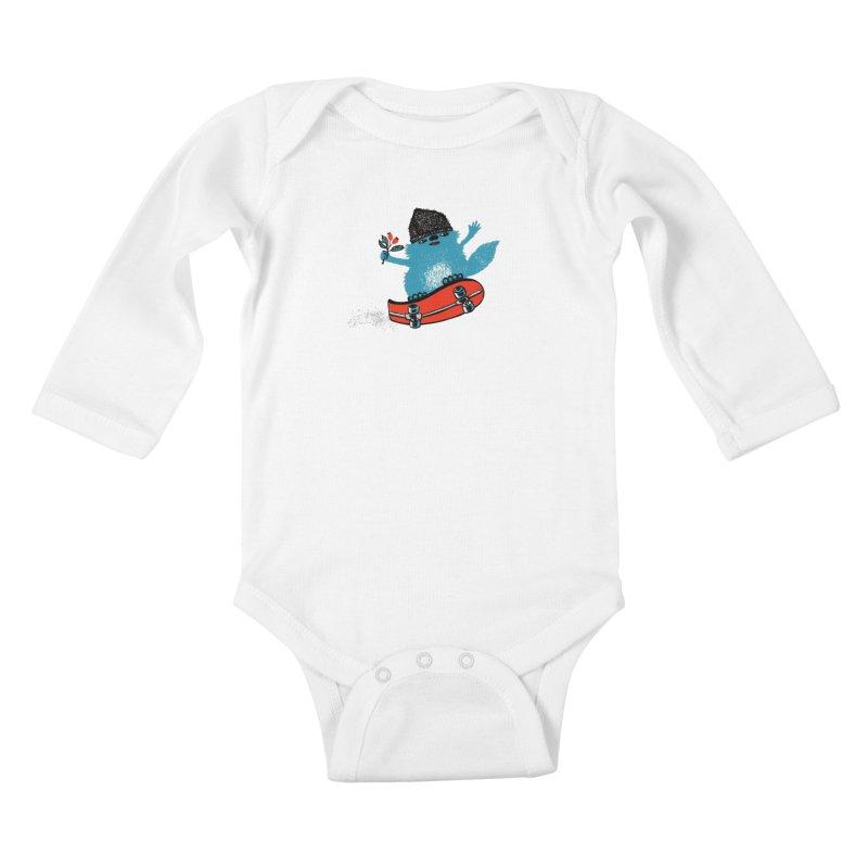 skate Kids Baby Longsleeve Bodysuit by tigrowna