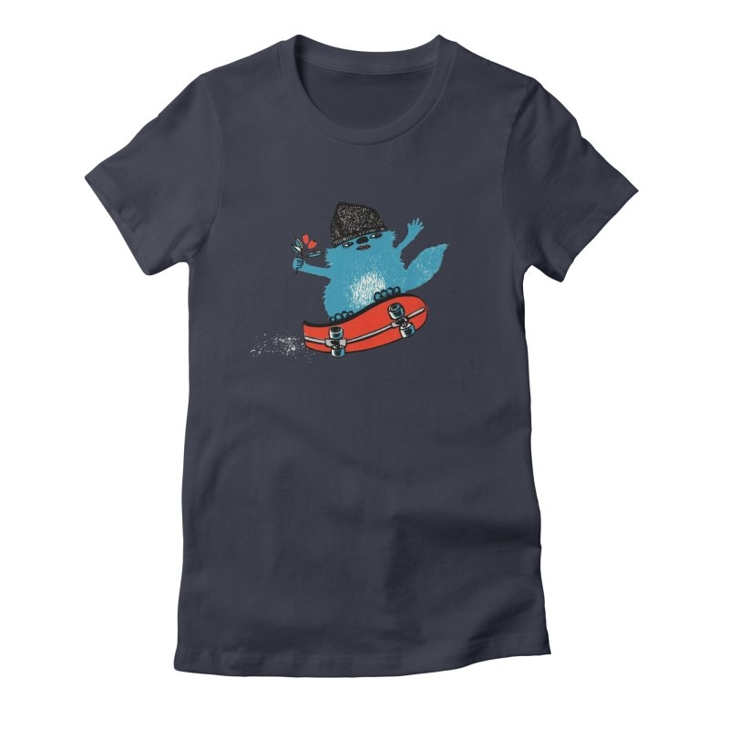 skate Women's Fitted T-Shirt by tigrowna
