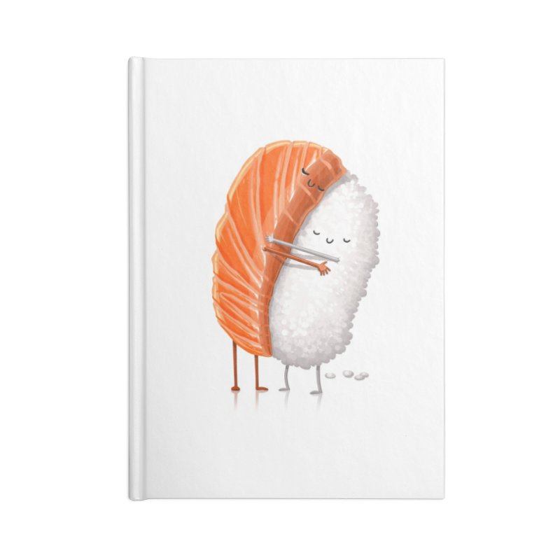 Sushi Hug Accessories Blank Journal Notebook by T2U