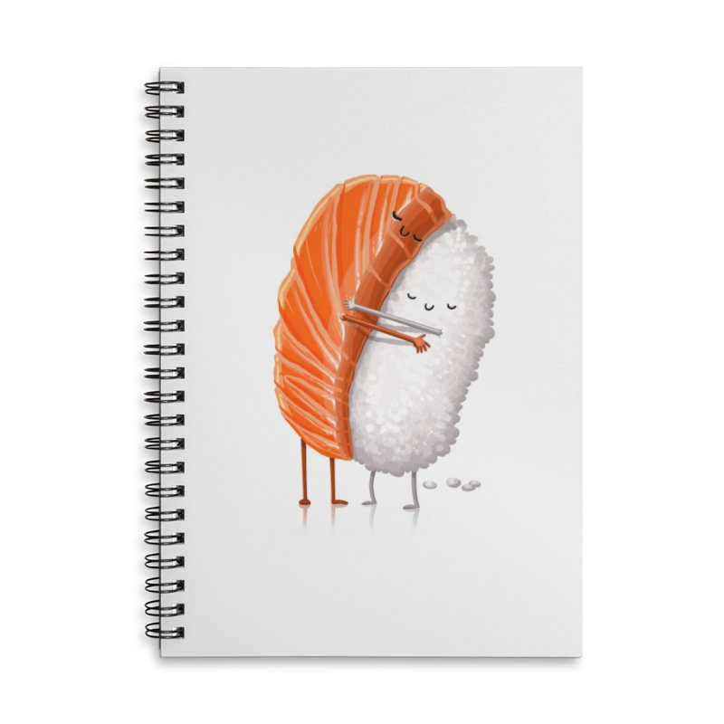 Sushi Hug Accessories Lined Spiral Notebook by T2U