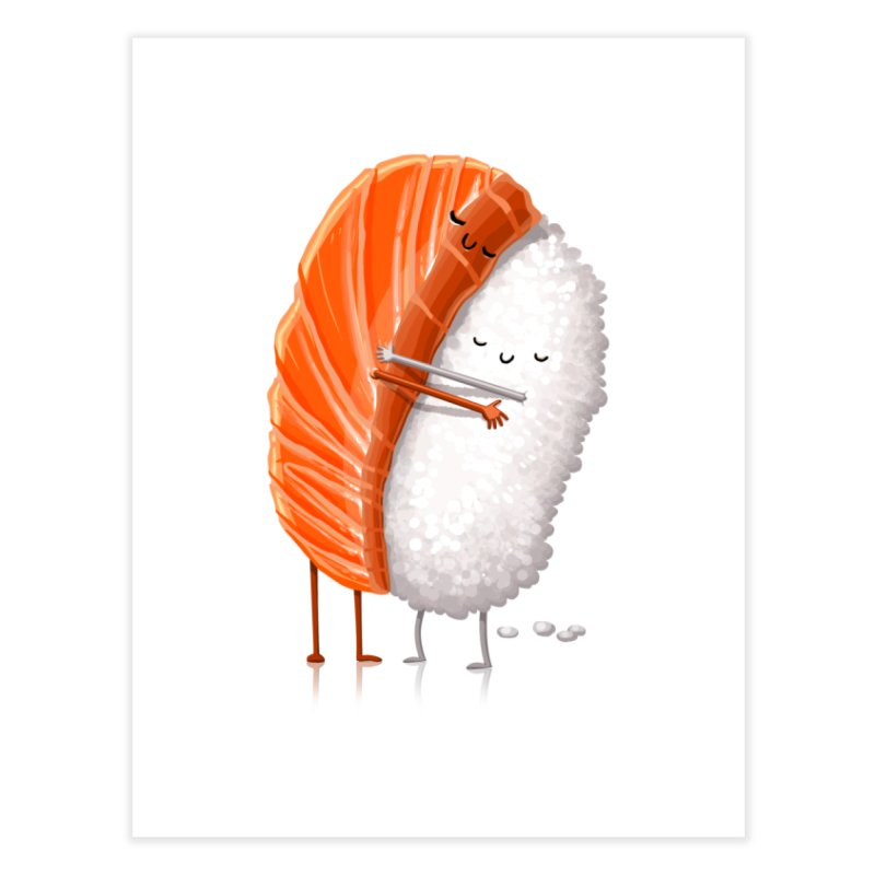 Sushi Hug Home Fine Art Print by T2U