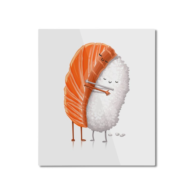 Sushi Hug Home Mounted Aluminum Print by T2U