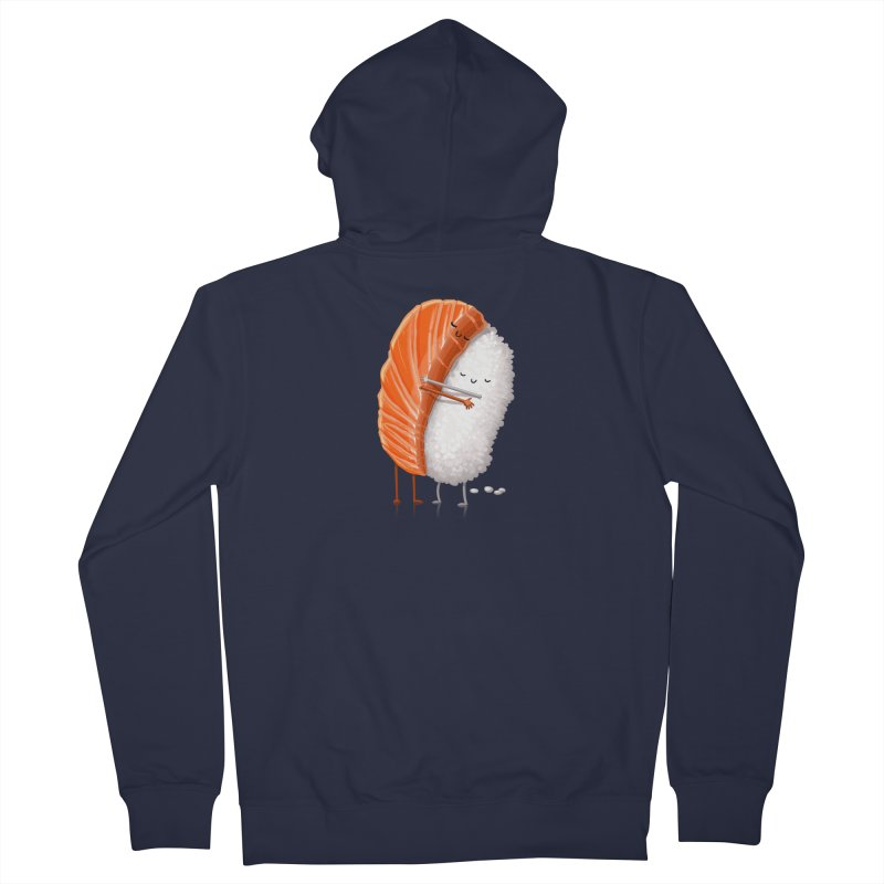 Sushi Hug Men's French Terry Zip-Up Hoody by T2U