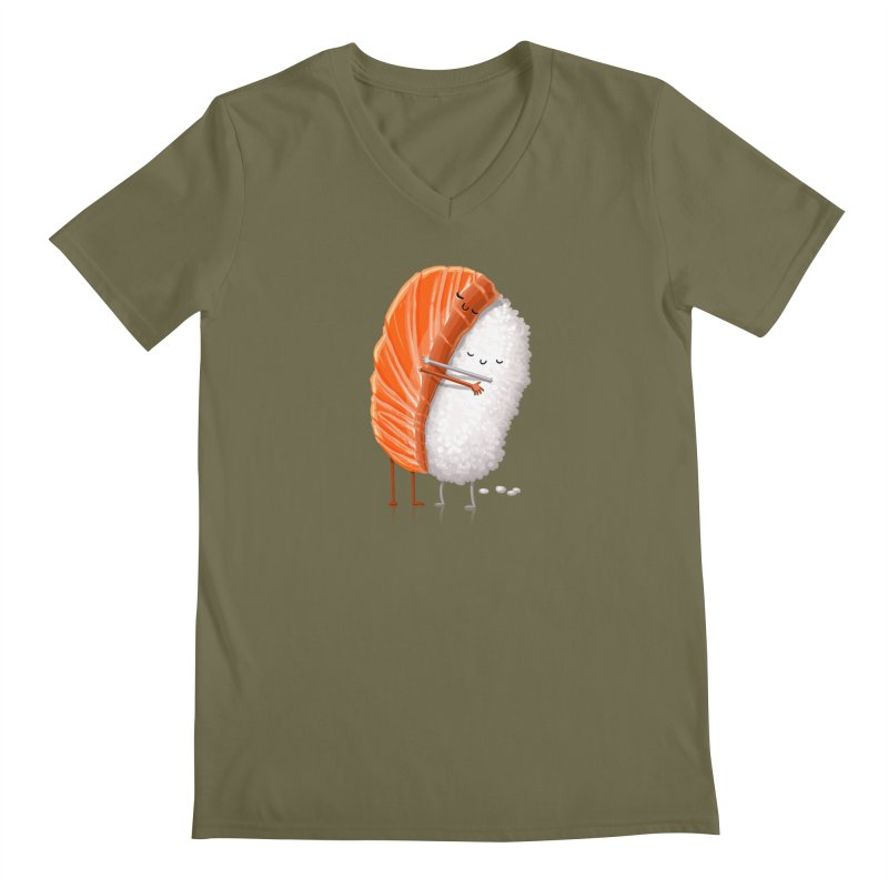 Sushi Hug Men's V-Neck by Tiago Möller Art Shop