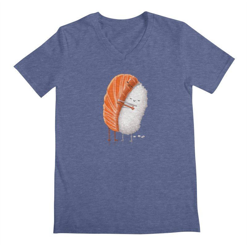 Sushi Hug Men's Regular V-Neck by T2U