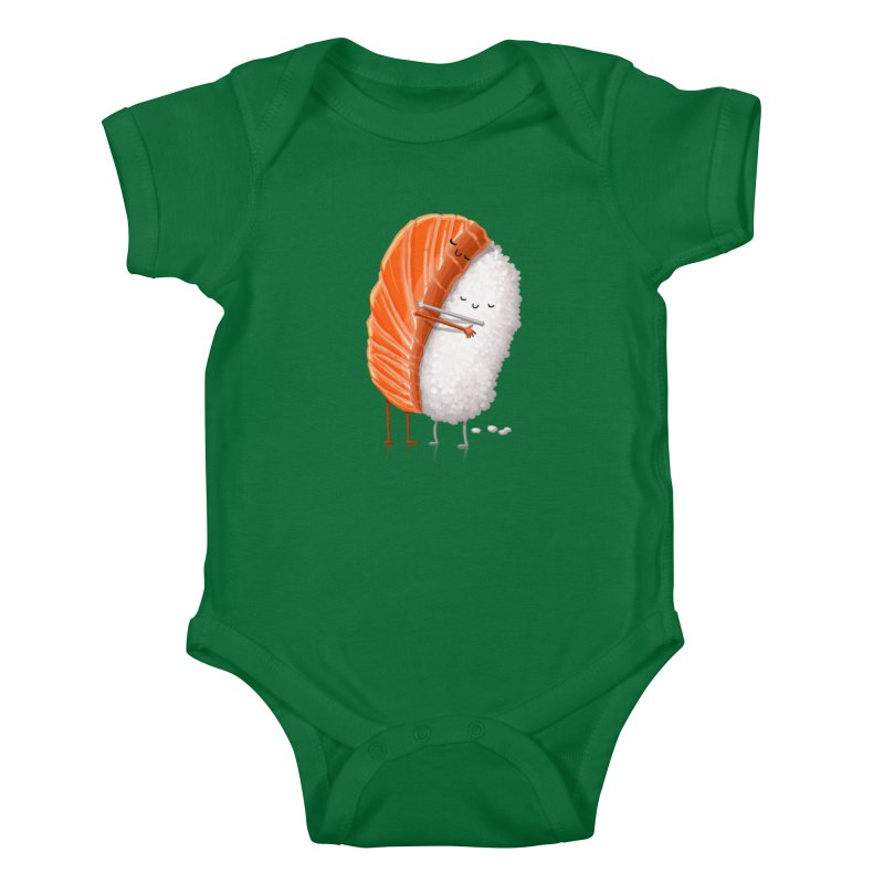 Sushi Hug Kids Baby Bodysuit by Tiago Möller Art Shop