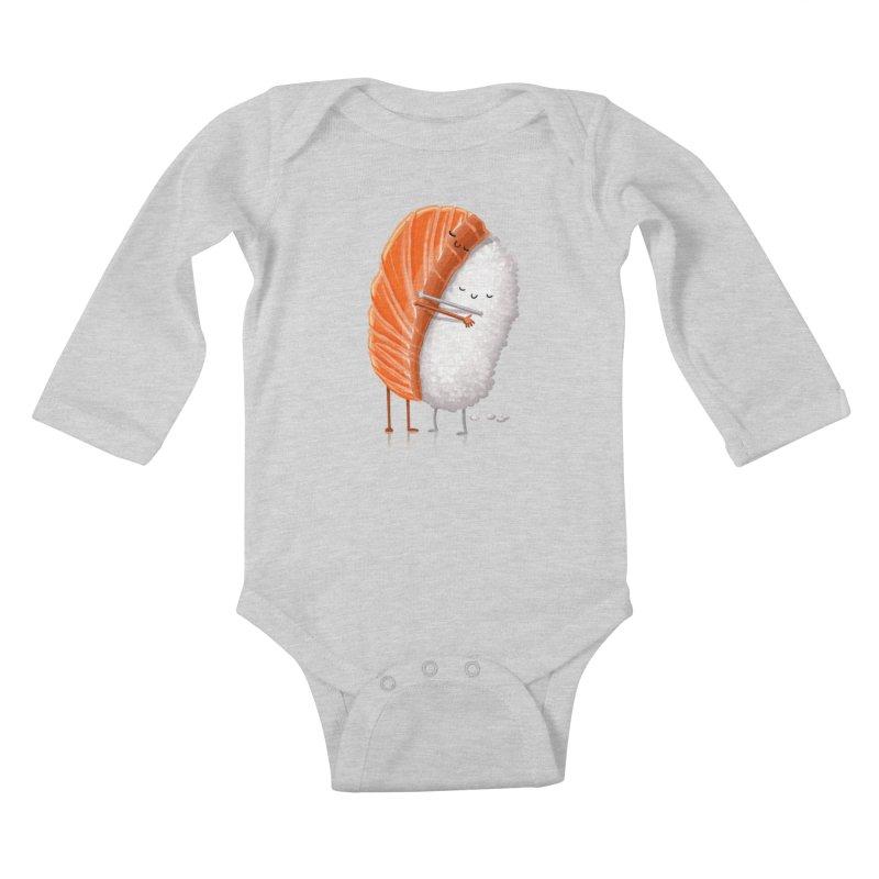 Sushi Hug Kids Baby Longsleeve Bodysuit by Tiago Möller Art Shop