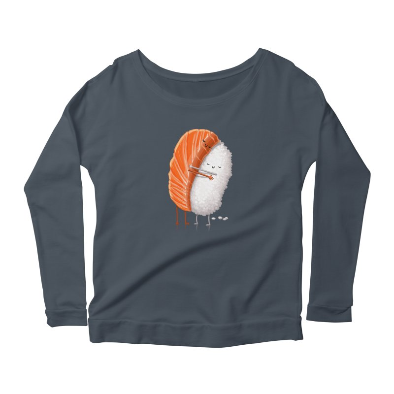 Sushi Hug Women's Longsleeve Scoopneck  by Tiago Möller Art Shop