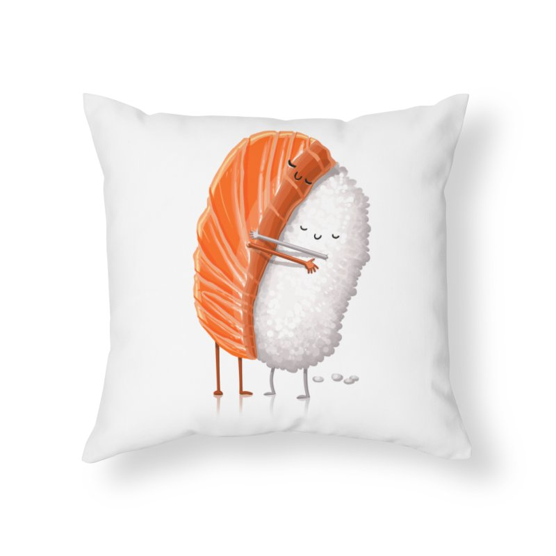 Sushi Hug Home Throw Pillow by T2U
