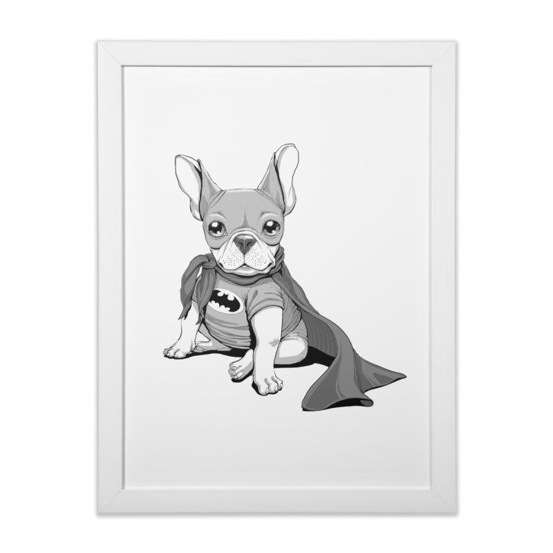 French Batdog Home Framed Fine Art Print by T2U