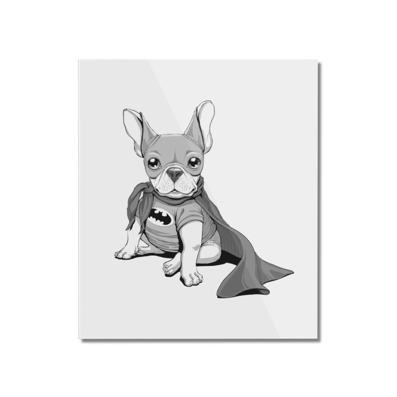 French Batdog Home Mounted Acrylic Print by T2U