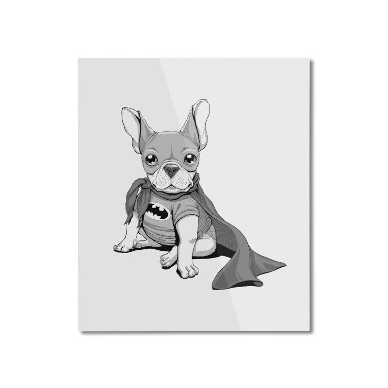 French Batdog Home Mounted Aluminum Print by T2U