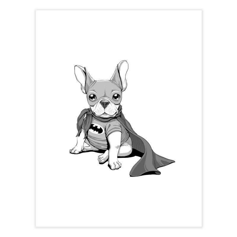 French Batdog Home Fine Art Print by T2U