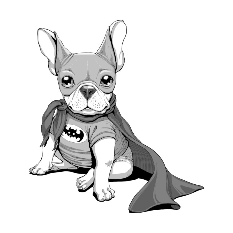 French Batdog by Tiago Möller Art Shop