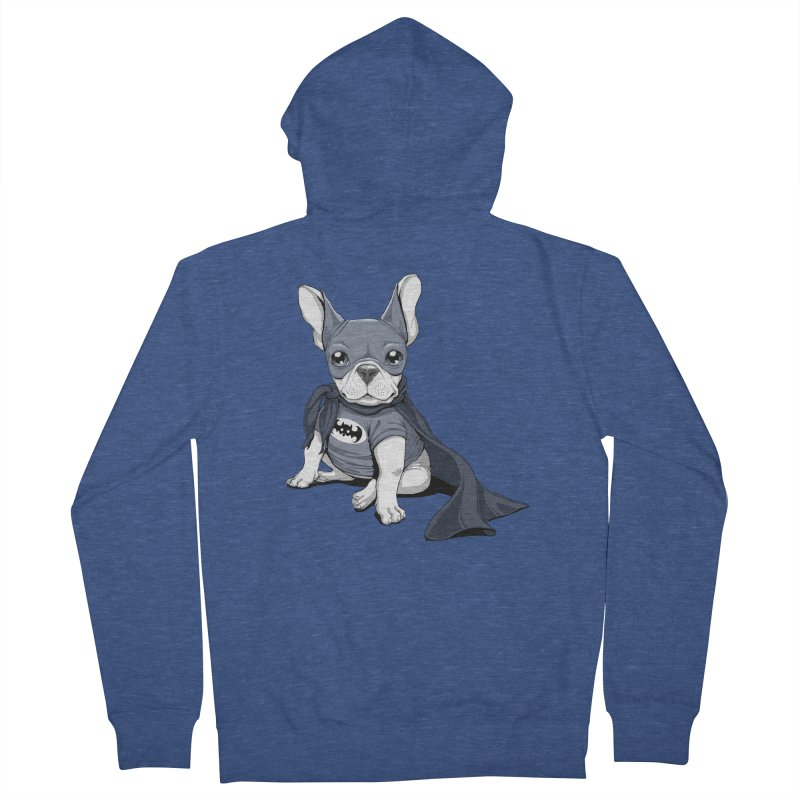 French Batdog Men's Zip-Up Hoody by T2U