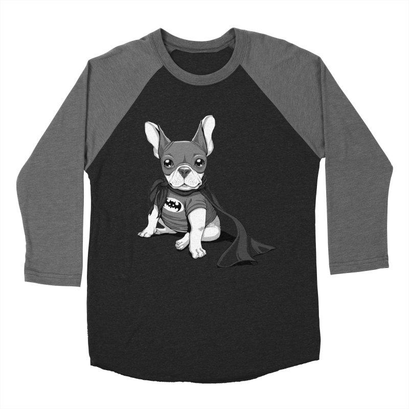 French Batdog Women's Baseball Triblend Longsleeve T-Shirt by T2U