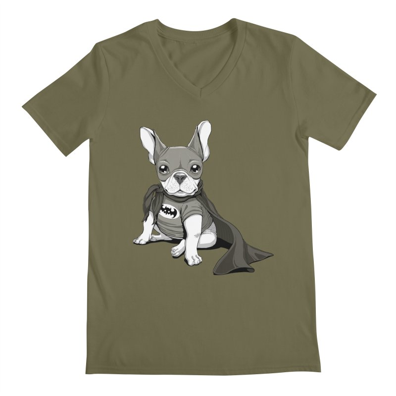 French Batdog Men's V-Neck by T2U