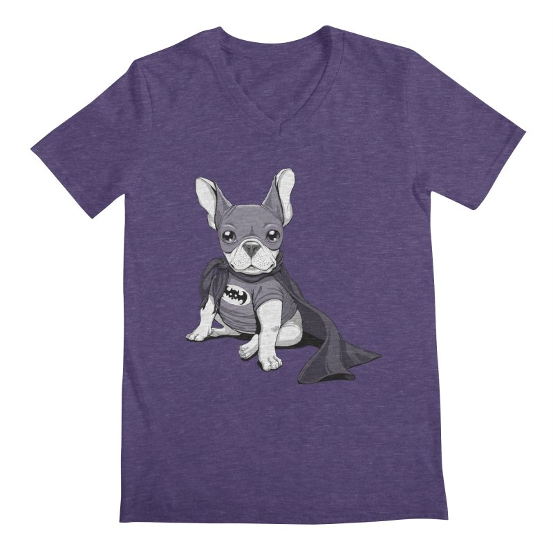 French Batdog Men's V-Neck by Tiago Möller Art Shop