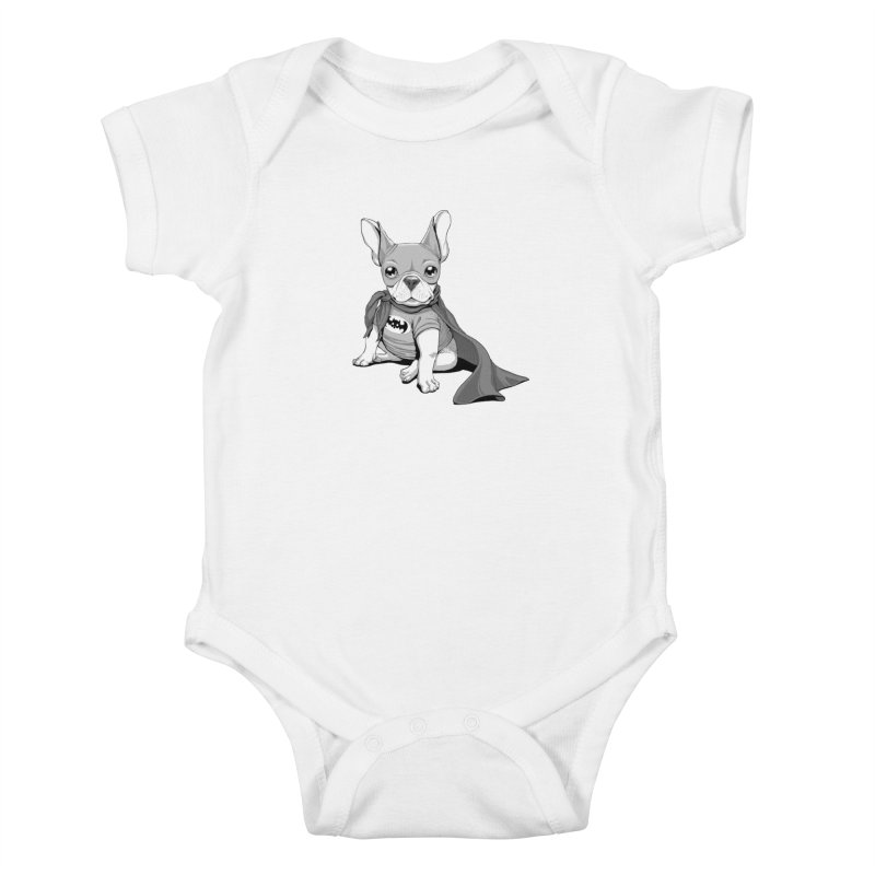 French Batdog Kids Baby Bodysuit by T2U