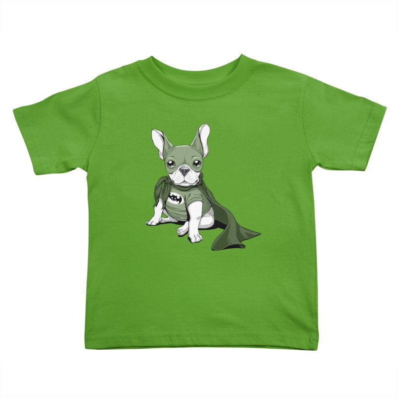 French Batdog Kids Toddler T-Shirt by T2U
