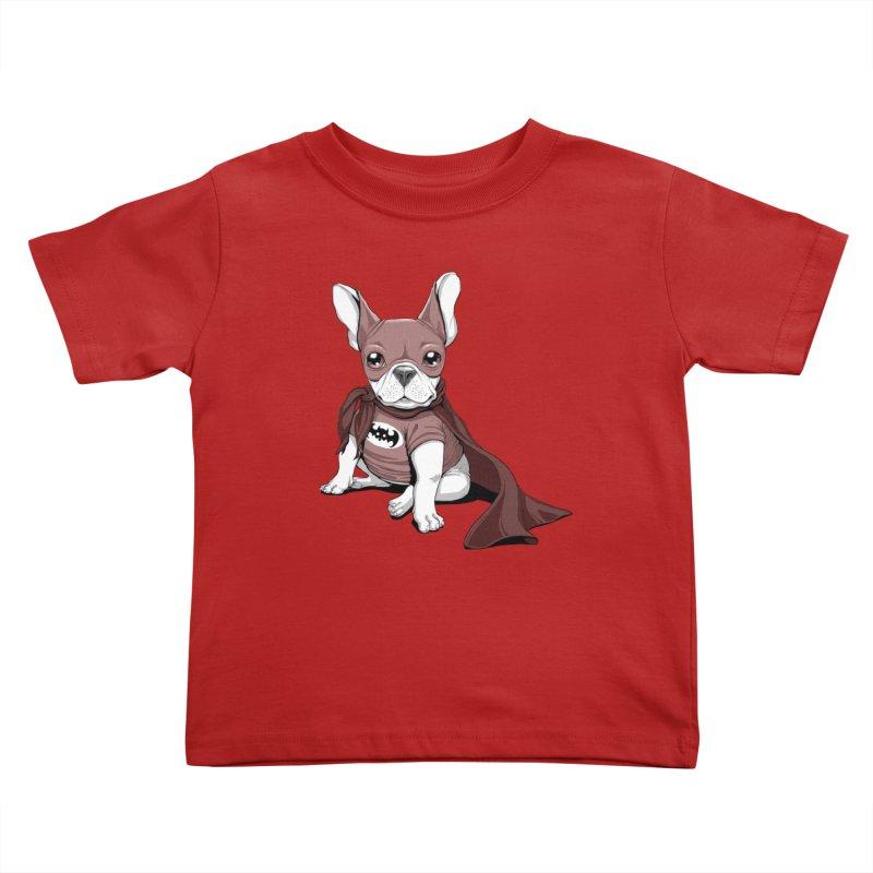 French Batdog Kids Toddler T-Shirt by Tiago Möller Art Shop