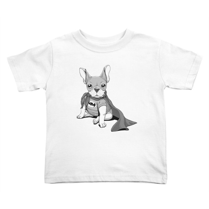 French Batdog Kids Toddler T-Shirt by T2U