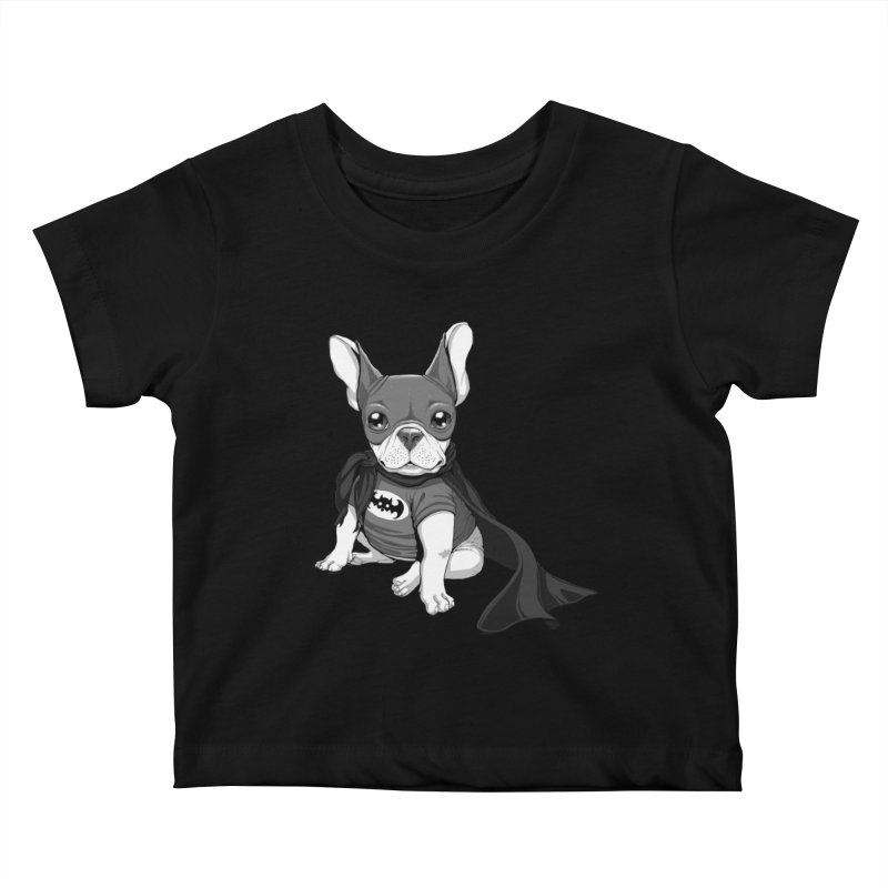 French Batdog Kids Baby T-Shirt by T2U