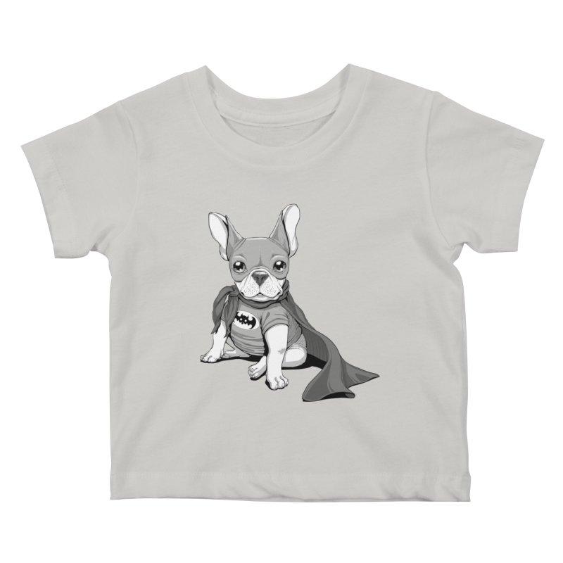 French Batdog Kids Baby T-Shirt by Tiago Möller Art Shop