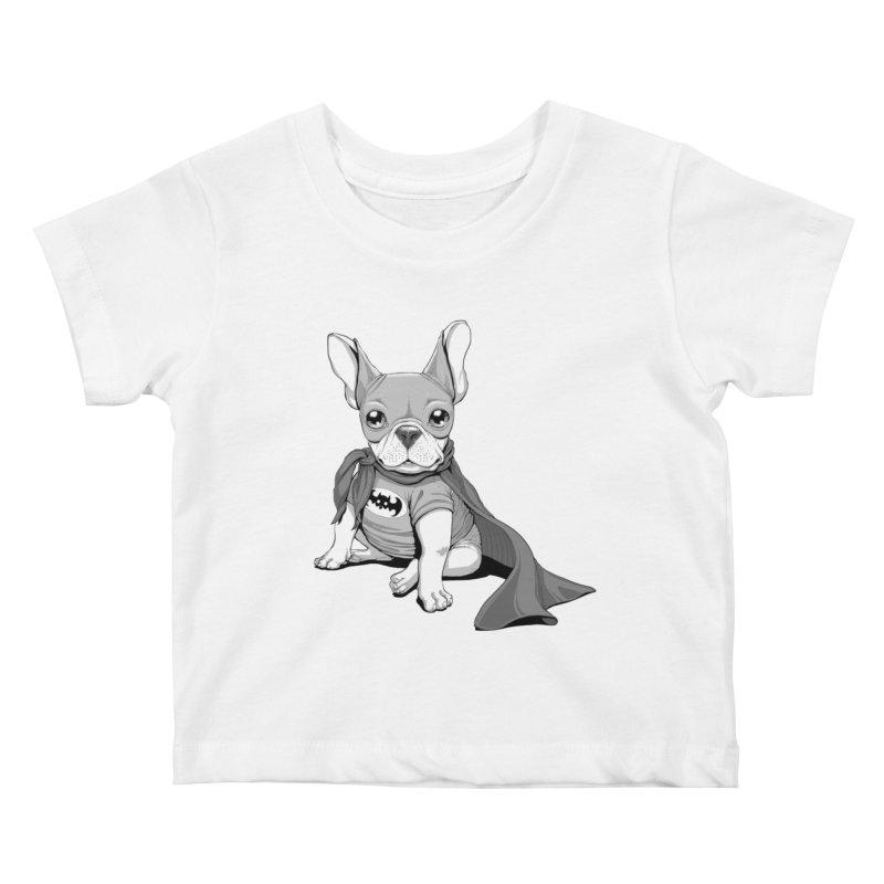 French Batdog Kids Baby T-Shirt by T2U