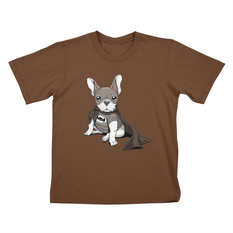 French Batdog Kids T-shirt by Tiago Möller Art Shop