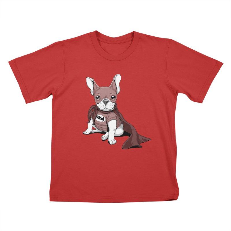 French Batdog Kids T-Shirt by T2U
