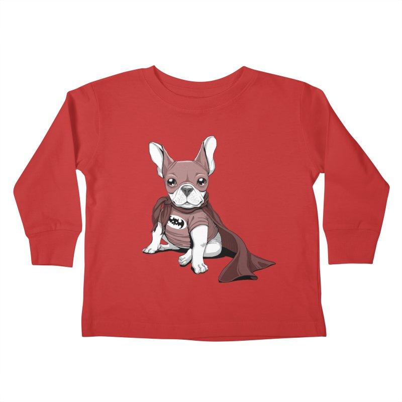 French Batdog Kids Toddler Longsleeve T-Shirt by T2U