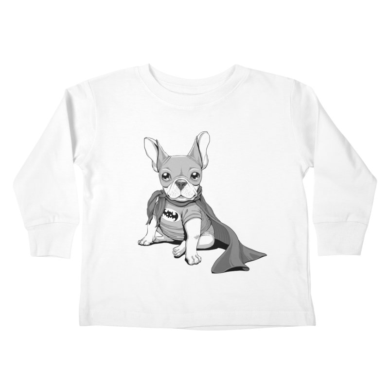 French Batdog Kids Toddler Longsleeve T-Shirt by T2U