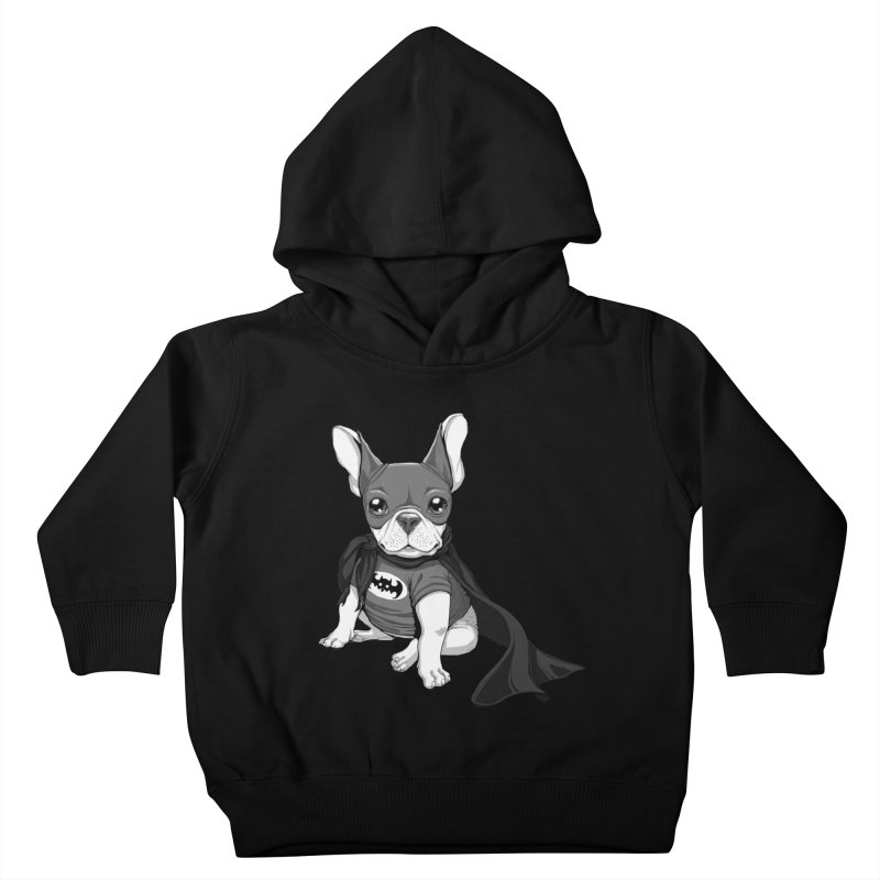 French Batdog Kids Toddler Pullover Hoody by Tiago Möller Art Shop