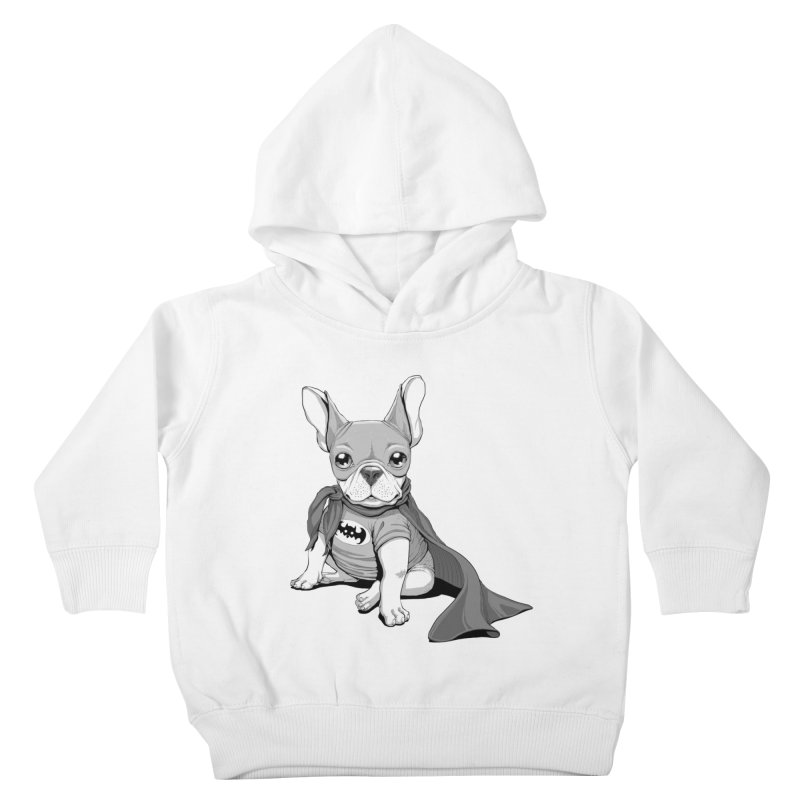 French Batdog Kids Toddler Pullover Hoody by T2U
