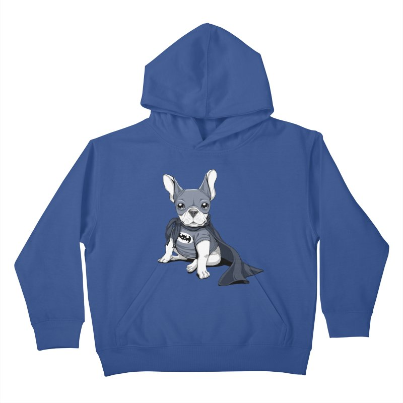 French Batdog Kids Pullover Hoody by T2U