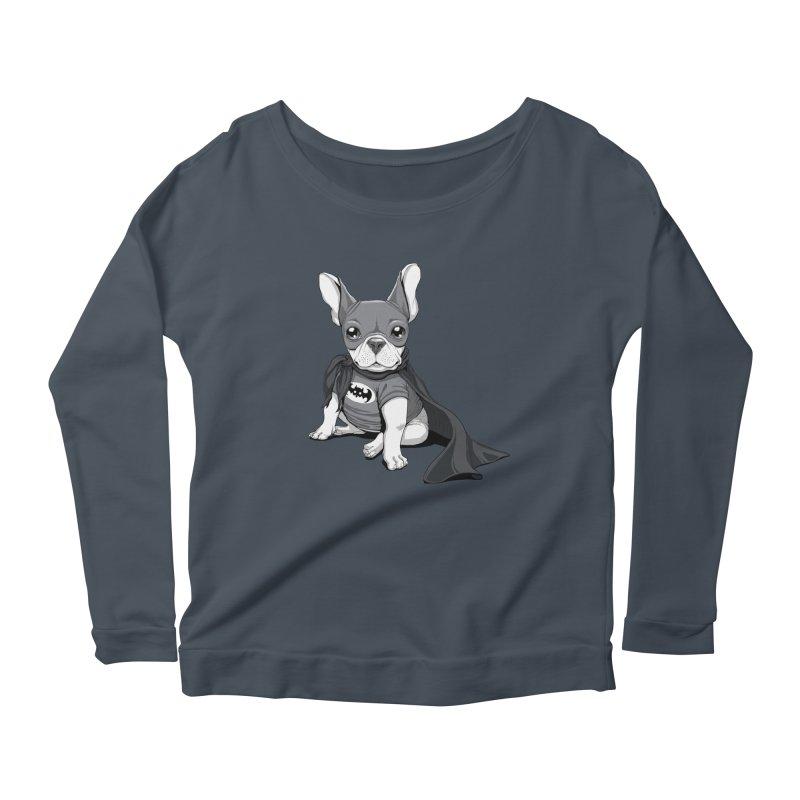 French Batdog Women's Scoop Neck Longsleeve T-Shirt by T2U