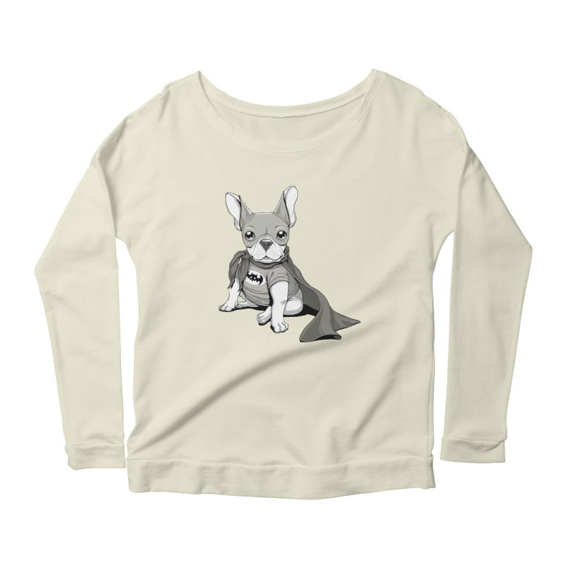 French Batdog Women's Longsleeve Scoopneck  by Tiago Möller Art Shop