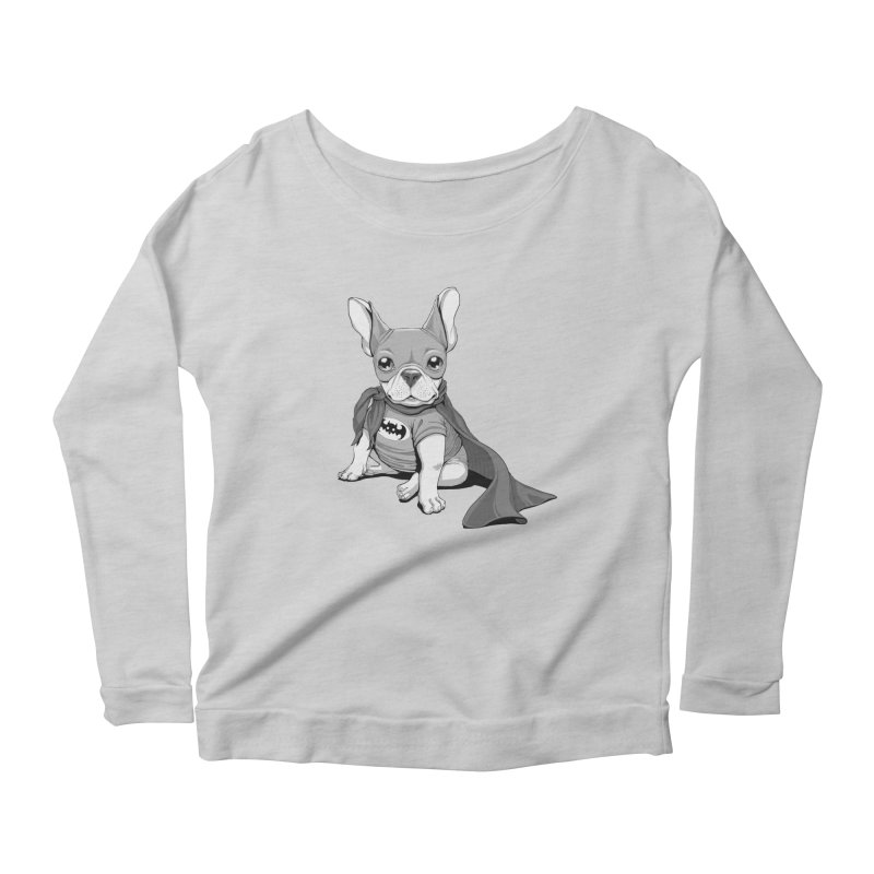 French Batdog Women's Scoop Neck Longsleeve T-Shirt by T2U