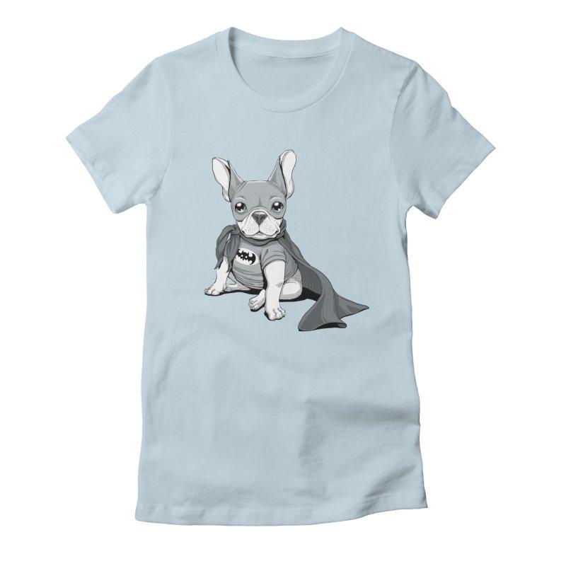 French Batdog Women's Fitted T-Shirt by Tiago Möller Art Shop