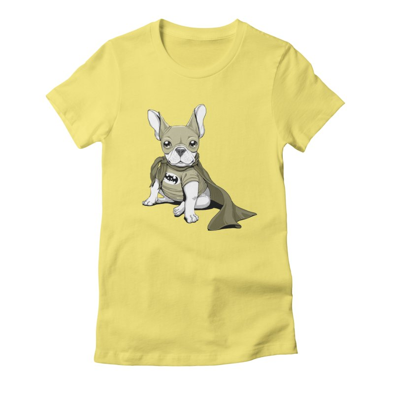 French Batdog Women's Fitted T-Shirt by T2U