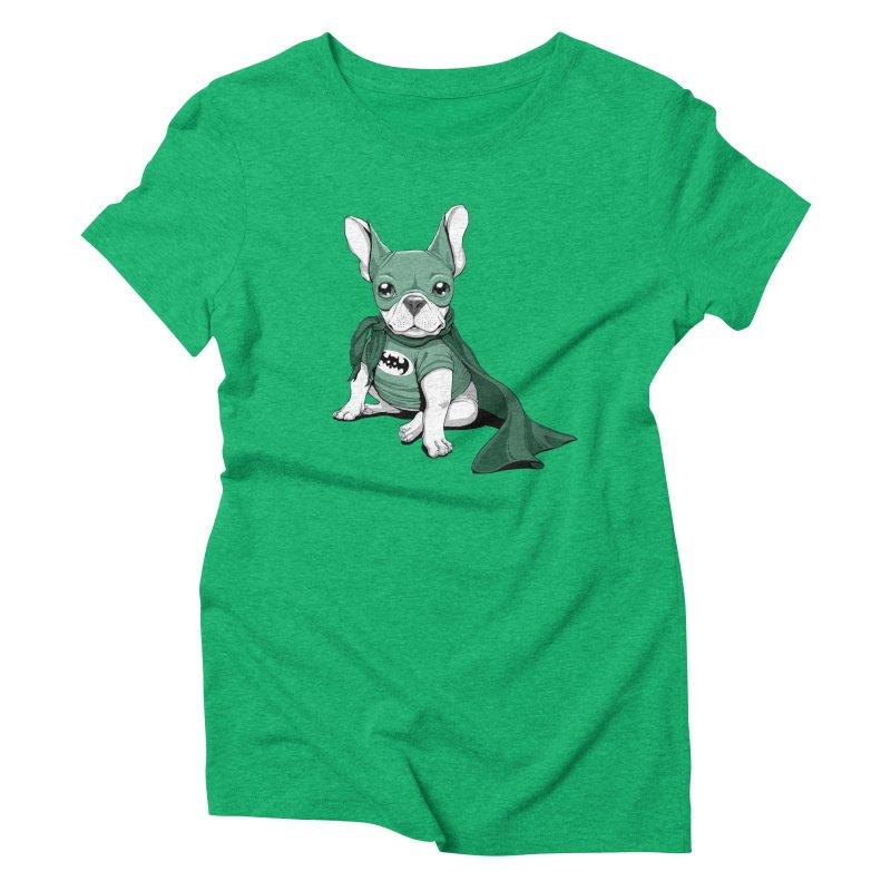 French Batdog Women's Triblend T-Shirt by T2U