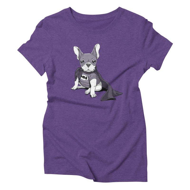 French Batdog Women's Triblend T-shirt by Tiago Möller Art Shop