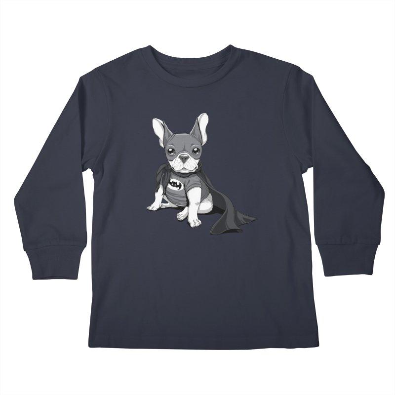 French Batdog Kids Longsleeve T-Shirt by T2U
