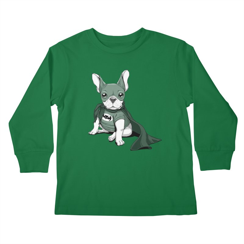 French Batdog Kids Longsleeve T-Shirt by T2U