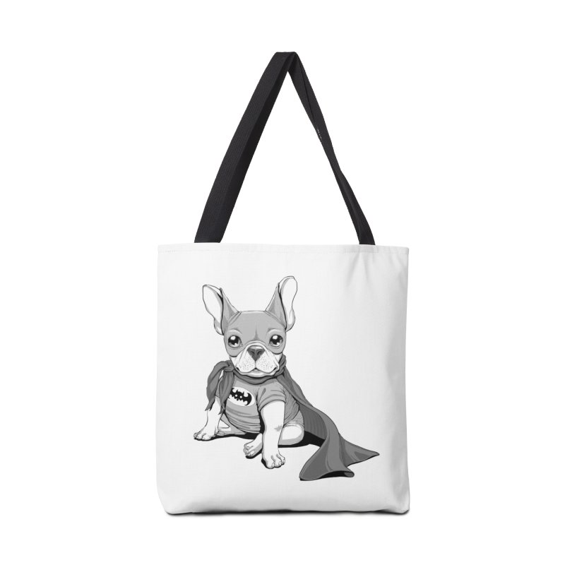 French Batdog Accessories Tote Bag Bag by T2U