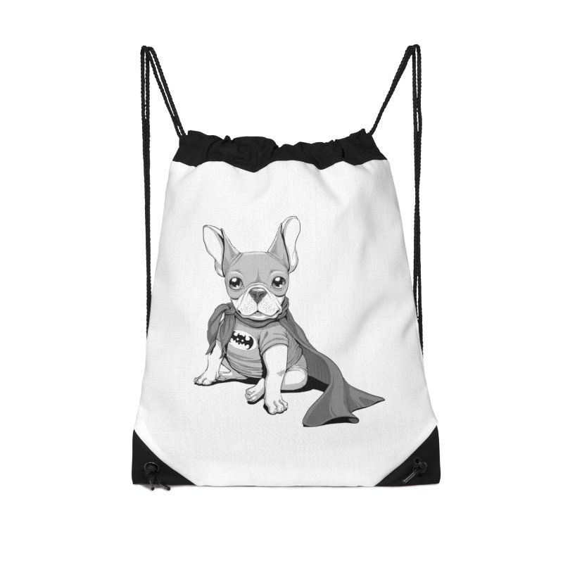 French Batdog Accessories Drawstring Bag Bag by T2U