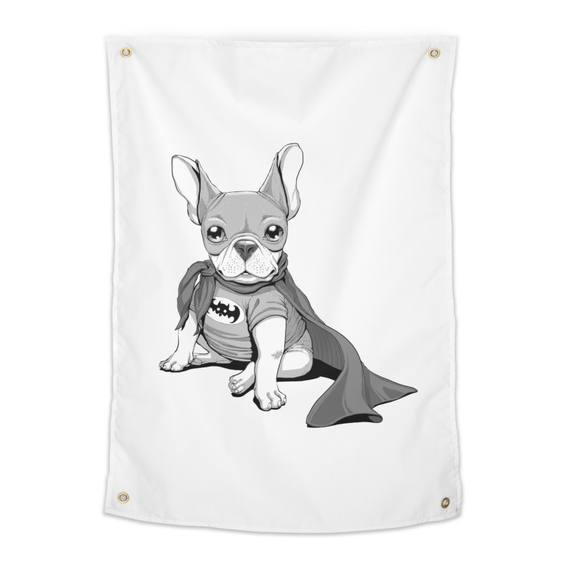 French Batdog Home Tapestry by T2U
